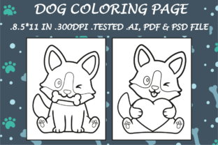 Dog Coloring Page 12 - Kdp Interiors Graphic Coloring Pages & Books Kids By Kdp Speed
