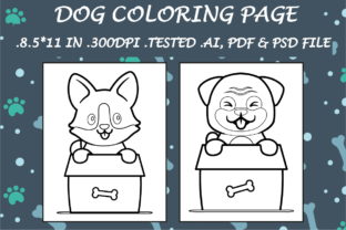 Dog Coloring Page 7 - Kdp Interiors Graphic Coloring Pages & Books Kids By Kdp Speed