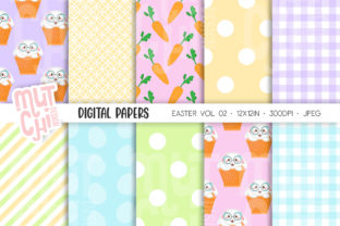 Easter Seamless Patterns 02 Graphic Patterns By Mutchi Design