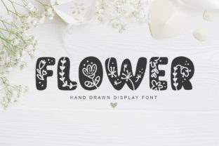 Print on Demand: Flower Display Font By Happy Letters