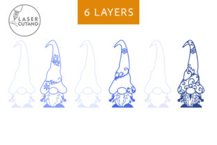 Print on Demand: GNOMES Multilayer Laser Cut Files Graphic 3D SVG By LaserCutano 5