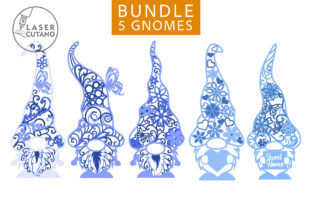 Print on Demand: GNOMES Multilayer Laser Cut Files Graphic 3D SVG By LaserCutano 6