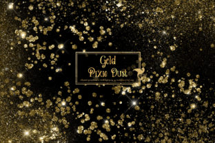 Print on Demand: Gold Pixie Dust Overlays Graphic Illustrations By Digital Curio 1