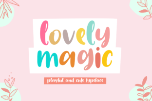 Print on Demand: Lovely Magic Display Font By Holydie Studio