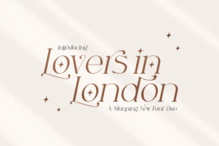 Print on Demand: Lovers in London Serif Font By Salt and Pepper Fonts 1