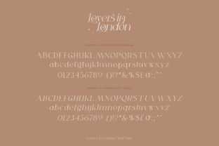 Print on Demand: Lovers in London Serif Font By Salt and Pepper Fonts 8