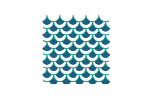 Mermaid Scales Camping & Fishing Embroidery Design By DigitEMB