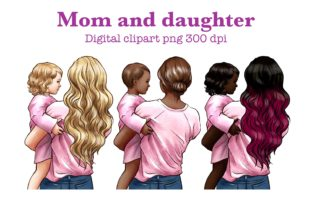 Mothers Day Clipart, Mom & Baby Clipart Graphic Illustrations By Arte de Catrin