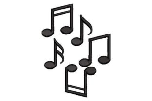 Musical Notes Music Embroidery Design By Embroidery Designs