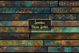 Print on Demand: Patina Borders Clipart Graphic Illustrations By Digital Curio 1
