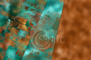 Print on Demand: Patina Shimmer Digital Paper Graphic Textures By Digital Curio 2