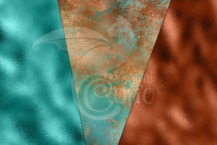 Print on Demand: Patina Shimmer Digital Paper Graphic Textures By Digital Curio 3