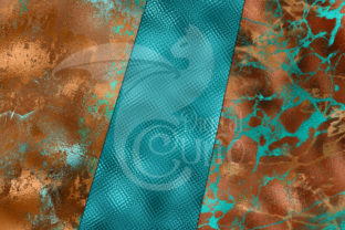 Print on Demand: Patina Shimmer Digital Paper Graphic Textures By Digital Curio 4