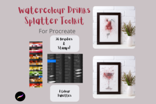 Procreate Watercolour Spatter Drinks Graphic Brushes By Mini Trezò Design