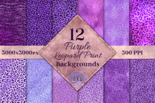 Print on Demand: Purple Leopard Print Backgrounds Graphic Backgrounds By SapphireXDesigns