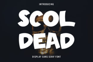 Print on Demand: Scoldead Display Font By Arendxstudio