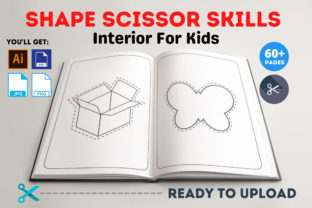 Print on Demand: Shape Scissor Skills Interior for Kids Graphic Coloring Pages & Books Kids By Infinite Desings 1