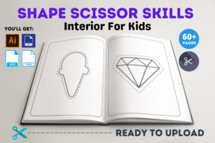 Print on Demand: Shape Scissor Skills Interior for Kids Graphic Coloring Pages & Books Kids By Infinite Desings 2