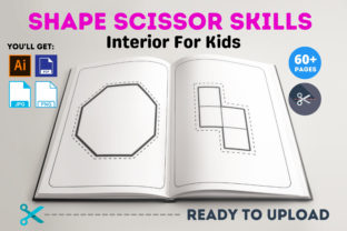 Print on Demand: Shape Scissor Skills Interior for Kids Graphic Coloring Pages & Books Kids By Infinite Desings 3