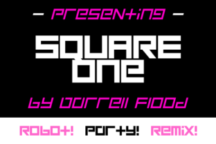 Print on Demand: Square One Display Font By Dadiomouse