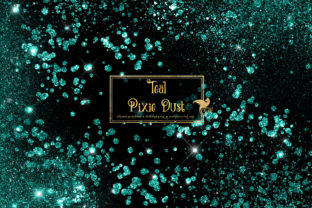 Print on Demand: Teal Pixie Dust Overlays Graphic Illustrations By Digital Curio