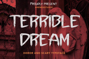 Print on Demand: Terrible Dream Display Font By Arendxstudio