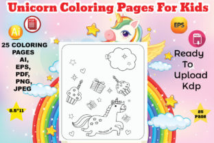 Unicorn Coloring Book for Kids Graphic Coloring Pages & Books Kids By Design Lensed 1