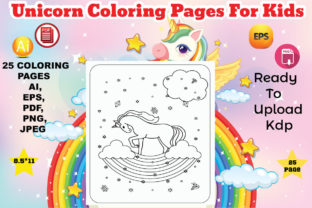 Unicorn Coloring Book for Kids Graphic Coloring Pages & Books Kids By Design Lensed 2