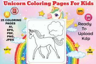 Unicorn Coloring Book for Kids Graphic Coloring Pages & Books Kids By Design Lensed 3