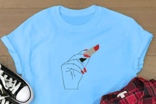Print on Demand: Woman Hand Holding Lipstick Boho Embroidery Design By Embroidery Shelter 2