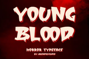 Print on Demand: Young Blood Display Font By Arendxstudio