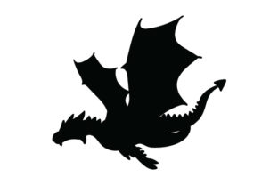 Silhouette of a Dragon Designs & Drawings Craft Cut File By Creative Fabrica Crafts