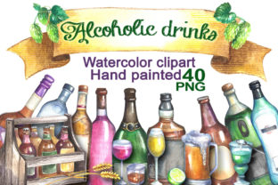 Alcoholic Drinks Cliparts Graphic Illustrations By rembrantd.ulya