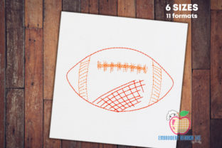 American Football Bean Stitch South America Embroidery Design By embroiderydesigns101