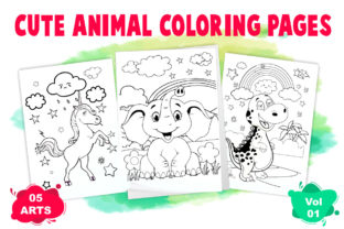 Animal Coloring Pages for Kids Graphic Coloring Pages & Books Kids By ZealTech Studio