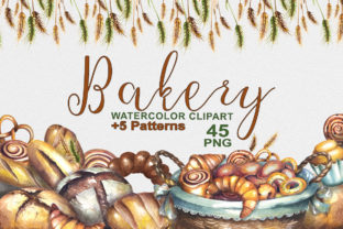 Bakery Watercolor Clipart Graphic Illustrations By rembrantd.ulya