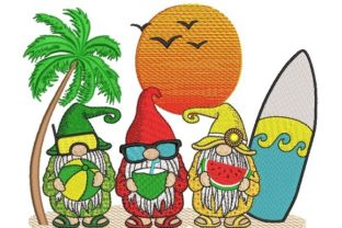 Print on Demand: Beach Gnomes Vacation Embroidery Design By ArtEMByNatali