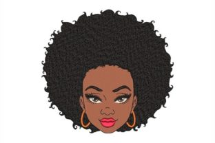 Black Woman Beauty Embroidery Design By NinoEmbroidery