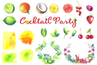 Cocktails Watercolor Clipart Graphic Illustrations By rembrantd.ulya 2