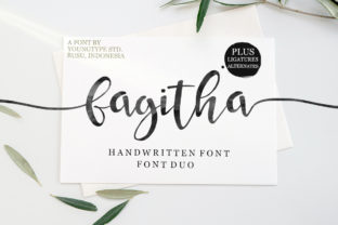 Print on Demand: Fagitha Script & Handwritten Font By Youngtype