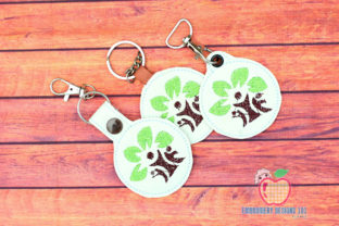 Family Tree in the Hoop Keyfob Family Quotes Embroidery Design By embroiderydesigns101