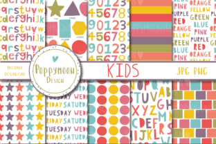 Print on Demand: Kids Paper Set Graphic Patterns By poppymoondesign
