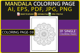 MANDALA COLORING PAGES for KIDS V.59 Graphic Coloring Pages & Books Kids By triggeredit 1