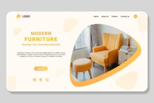Print on Demand: Online Modern Furniture Landing Template Graphic Landing Page Templates By themesfusion