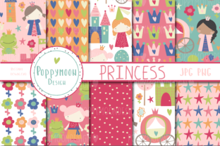 Print on Demand: Princess Paper Set Graphic Patterns By poppymoondesign