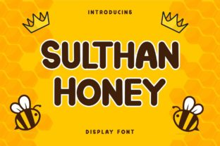 Print on Demand: Sulthan Honey Display Font By Alfinart