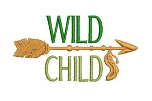 Wild Child Cowboy & Cowgirl Embroidery Design By Embroidery Designs