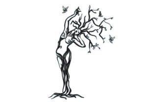 Woman Tree Forest & Trees Embroidery Design By NinoEmbroidery