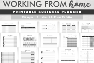 Print on Demand: Working from Home   Business Planner. Graphic KDP Interiors By artsbynaty 1