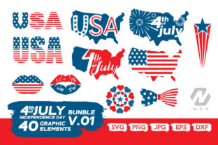 Print on Demand: 4th of July Elements Graphic Bundle Graphic Crafts By nesdigiart 3